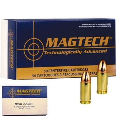 Magtech 9mm Luger FMC 124grs